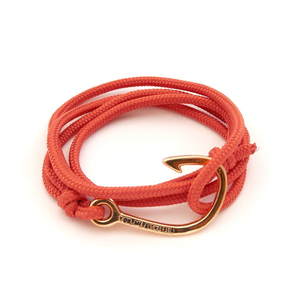 Nautical Rope Bracelet Hook Gold Terracotta