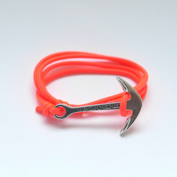 Nautical Rope Bracelet Anchor Fluor Coral