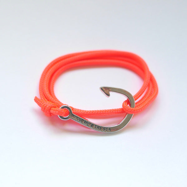 Nautical Rope Bracelet hook Fluor Coral