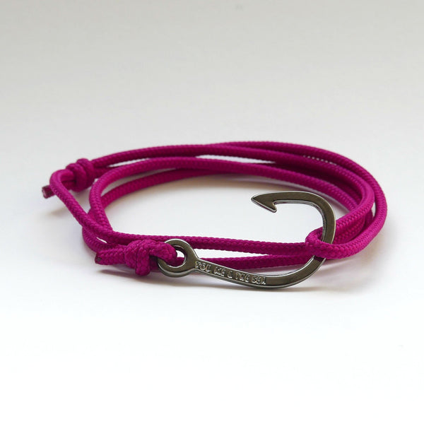 Nautical Rope Bracelet Hook Black Raspberry