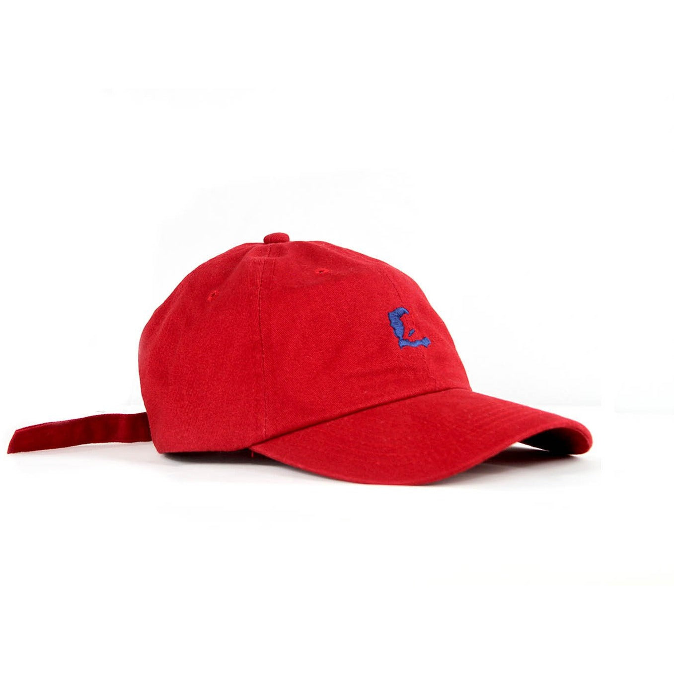 "Red Zoe Signature ""E"" Dad Hat"