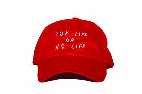 "Red ""Zoe Life or No Life"" Dad Hat"
