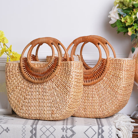 Ms. Confident handbag woven straw bags
