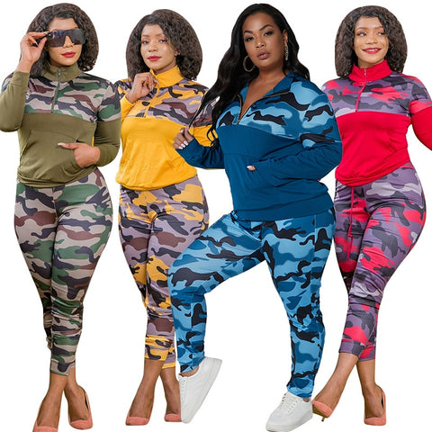 Ms. Confident Camouflage Matching Set
