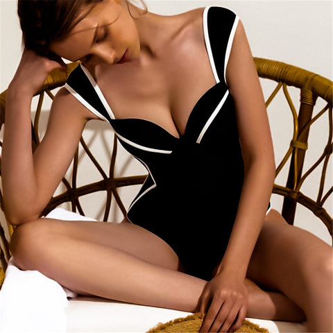 Ms. Confident Striped Push Up One Piece