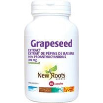 NEW ROOTS HERBAL Grapeseed Extract 100mg 60 Capsules