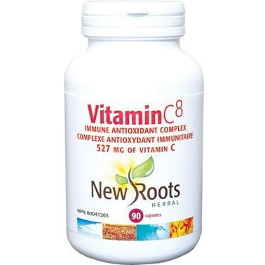NEW ROOTS HERBAL Vitamin C8 90 Vegetable Capsules