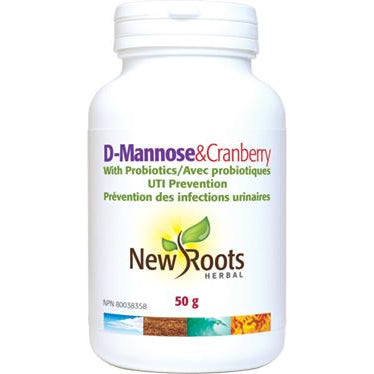 NEW ROOTS HERBAL D-Mannose With Cranberry & Probiotics 50g Powder