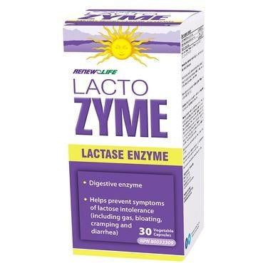RENEW LIFE LACTOZYME 30 Vegetable Capsules
