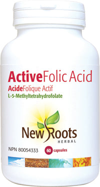 NEW ROOTS HERBAL Active Folic Acid L-5-MTHF 60 Capsules