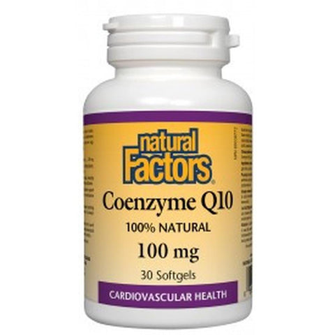NATURAL FACTORS Coenzyme Q10 100 mg 30 Softgels