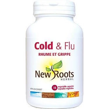 NEW ROOTS HERBAL Cold & Flu 15 Vegetable Capsules