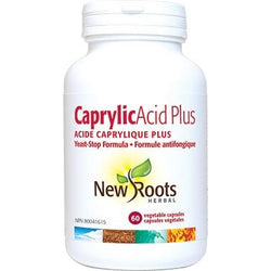 NEW ROOTS HERBAL Caprylic Acid Plus 60 Vegetable Capsules