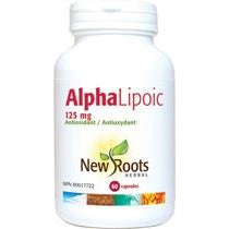 NEW ROOTS HERBAL Alpha Lipoic 125mg 60 Capsules