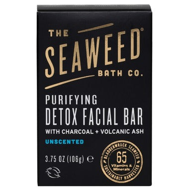 The Seaweed Bath Co. Purifying Detox Facial Bar  With Charcoal + Volcanic Ash 106 g