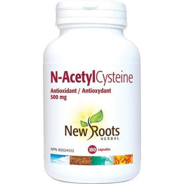 NEW ROOTS HERBAL N-AcetylCysteine 500mg 180 Capsules