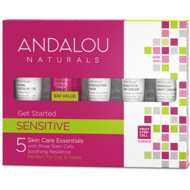 ANDALOU Naturals 1000 Roses Get Started Skin Care Kit5 Products