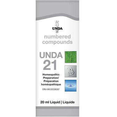 UNDA Numbered Compounds UNDA 21 Homeopathic Preparation 20 mL