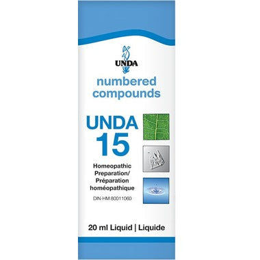 UNDA Numbered Compounds UNDA 15 Homeopathic Preparation 20 mL