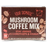FOUR SIGMATIC Mushroom Coffee Mix with Cordyceps & Chaga 10 Sachets