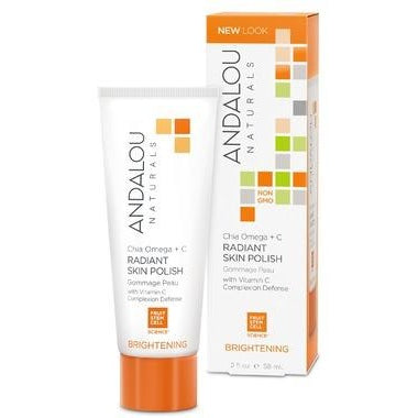 ANDALOU Naturals Chia Omega + C Radiant Skin Polish For Normal & Combination Skin 58 mL