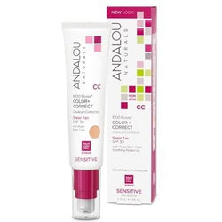 ANDALOU Naturals 1000 Roses CC Cream Sheer Tan Tint  SPF 30 58 mL