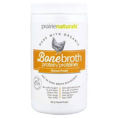 PRAIRIE NATURALS Organic Chicken Bone Broth Protein 300g