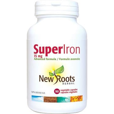 NEW ROOTS HERBAL Super Iron 30mg 90 Vegetable Capsules