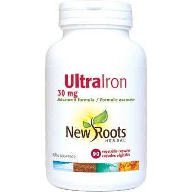 NEW ROOTS HERBAL Ultra Iron 30mg 90 Vegetable Capsules