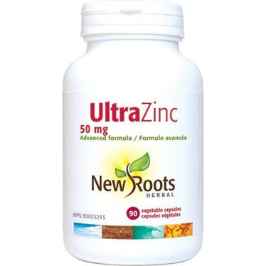 NEW ROOTS HERBAL Ultra Zinc 50mg 90 Vegetable Capsules
