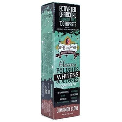 MY MAGIC MUD Activated Charcoal Toothpaste for Whitening Cinnamon Clove 113g