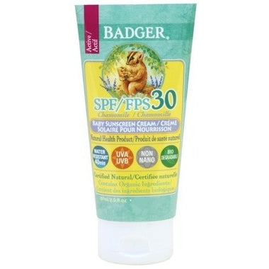 BADGER CHAMOMILE BABY SUNSCREEN SPF30 87ML