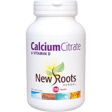 NEW ROOTS HERBAL Calcium Citrate & Vitamin D 150 Capsules