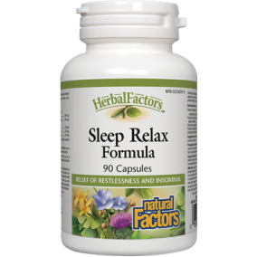 NATURAL FACTORS Sleep Relax Formula 90 Capsules
