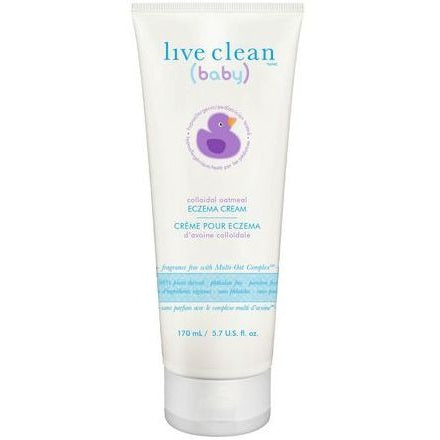 LIVE CLEAN - BABY COLLOIDAL OATMEAL ECZEMA CREAM 170ML
