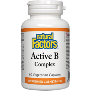 NATURAL FACTORS Active B Complex 60 Vegetarian Capsules