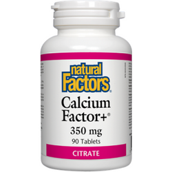 NATURAL FACTORS Calcium Factors+ 350MG 90 Tablets