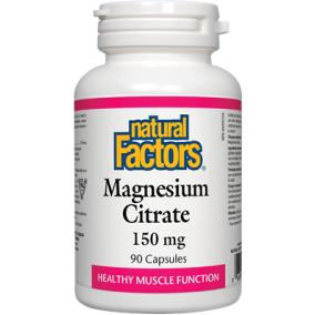 NATURAL FACTORS Magnesium Citrate 150 mg 90 Capsules