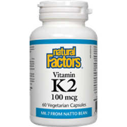 NATURAL FACTORS Vitamin K2 100 mcg 60 Vegetarian Capsules