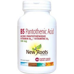NEW ROOTS HERBAL Vitamin B5 Pantothenic Acid 500 mg 100 Capsules