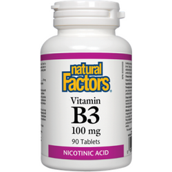 NATURAL FACTORS Vitamin B3 100 mg 90 Tablets