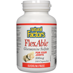 NATURAL FACTORS FlexAble® Glucosamine Sulfate 500 mg 180 Capsules