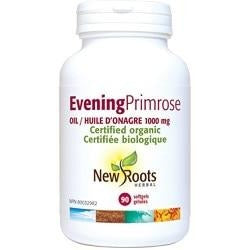 NEW ROOTS HERBAL Evening Primrose Oil 1000mg 90 Softgels
