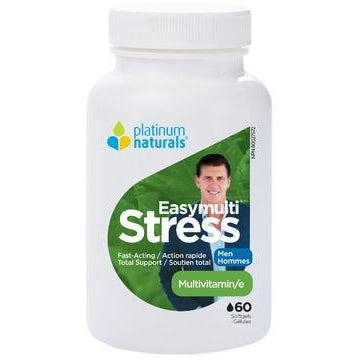 PLATINUM NATURALS Easymulti Stress for Men 60 Softgels