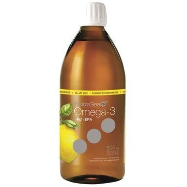 NUTRASEA HP Extra-Strength EPA Omega-3 Liquid  Zesty Lemon Flavour 500 mL