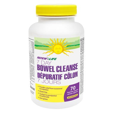 RENEW LIFE 7 Day Bowel Cleanse Capsules 70 Vegetable Capsules