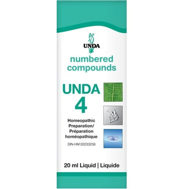 UNDA Numbered Compounds UNDA 4 Homeopathic Preparation 20 mL