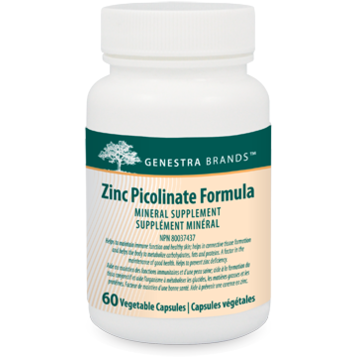 GENESTRA Zinc Picolinate Formula  60 Vegetable Capsules