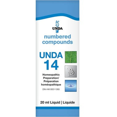 UNDA Numbered Compounds UNDA 14 Homeopathic Preparation 20 mL