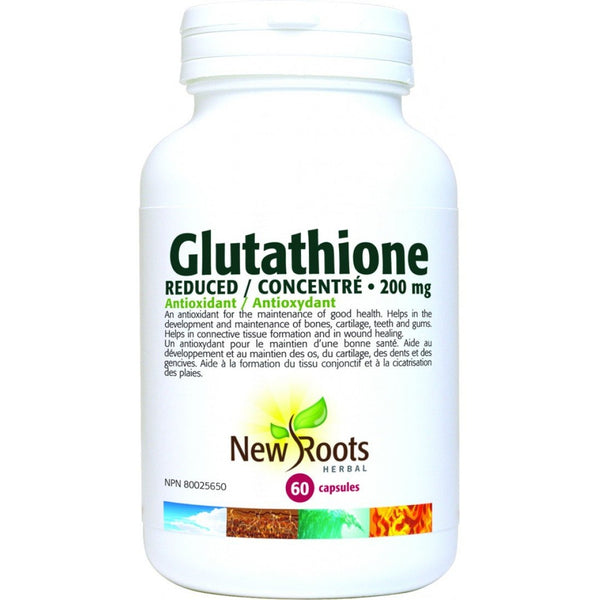 NEW ROOTS HERBAL Glutathione (Reduced) 200mg 60 Capsules